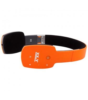 Słuchawki nauszne z Bluetooth Kuki - pomarańczowe