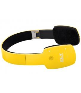 Słuchawki nauszne z Bluetooth Kuki - żółte