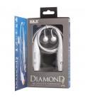 Słuchawki douszne z Bluetooth i mikrofonem Diamond - białe