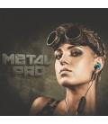 Douszne słuchawki Bluetooth METALPRO SM01 - niebieskie