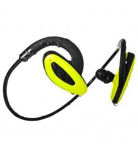Wodoodporne słuchawki z Bluetooth i odtwarzaczem mp3 8GB - H2O żółte