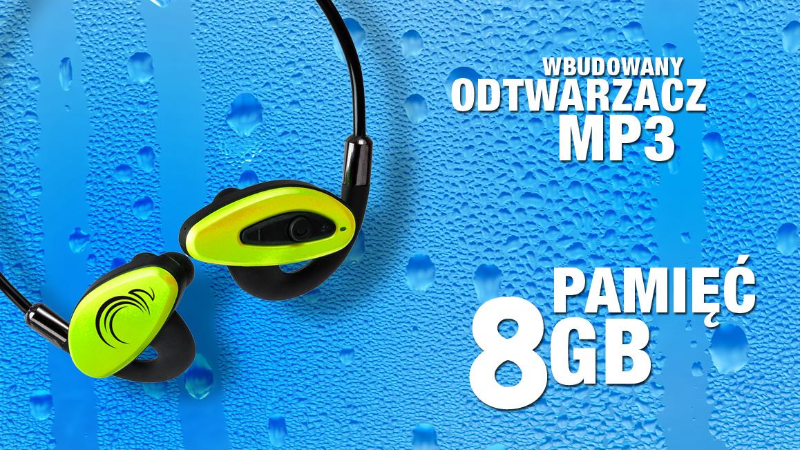 Wodoodporne słuchawki z Bluetooth i odtwarzaczem mp3 8GB - H2O