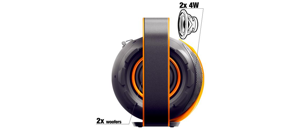 Przenośny system audio Bluetooth - moc głośników