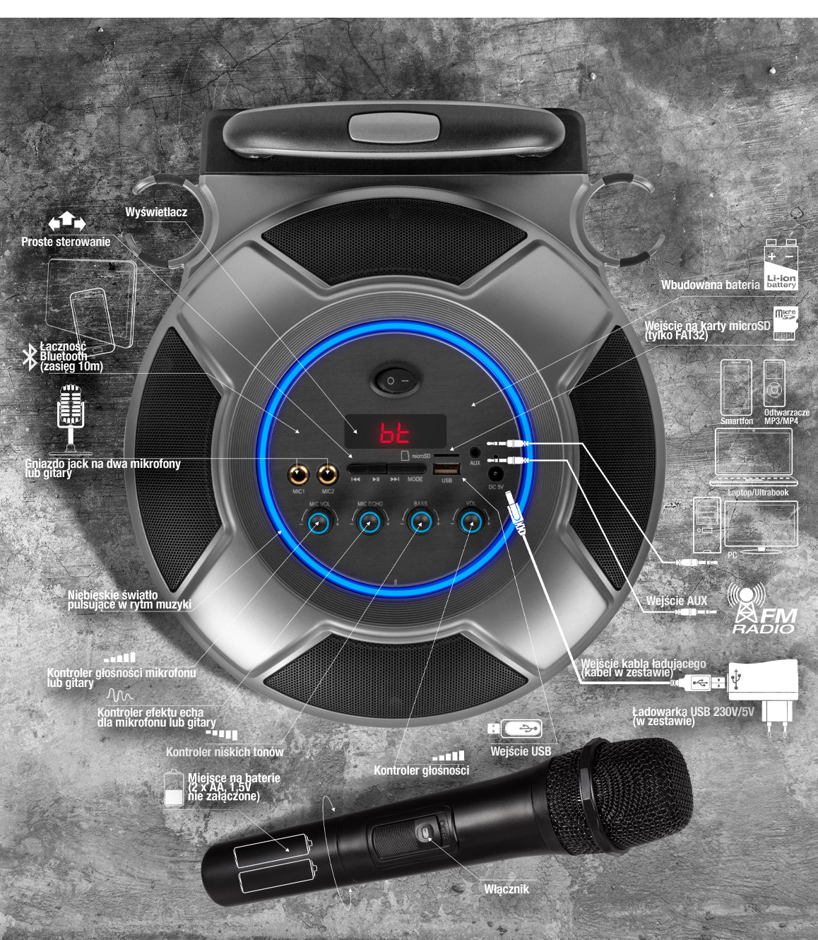 XX.Y Boombard - power audio system