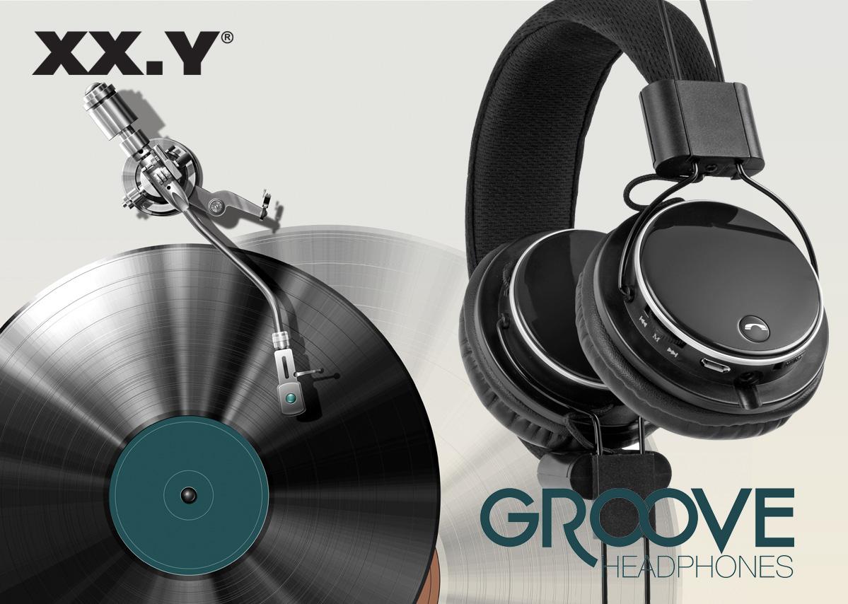 Słuchawki Bluetooth z odtwarzaczem MP3, radiem i mikrofonem - Groove