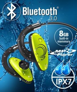 Wodoodporne słuchawki douszne z odtwarzaczem mp3, 8GB i Bluetooth - H2O