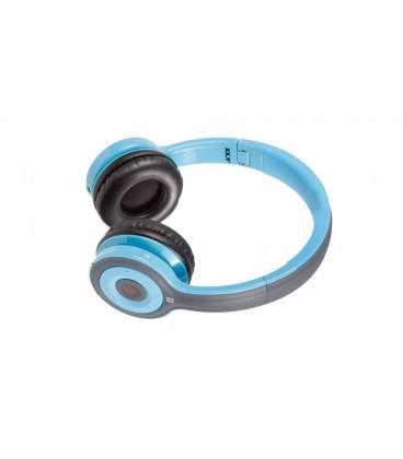 Słuchawki nauszne z Bluetooth i NFC Jello - niebieskie