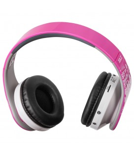Słuchawki z odtwarzaczem mp3 i radiem Dynamic 10 - różowe