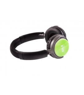 Słuchawki z budowanym odtwarzaczem mp3 i radiem Dynamic 21 - zielone
